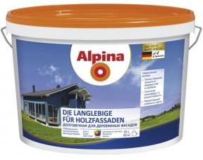 Долговечная краска для деревянных фасадов Alpina
