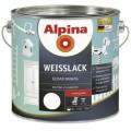 Белая эмаль для дерева и металла Alpina