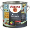 Водоразбавляемая колеруемая эмаль для дерева и металла Alpina