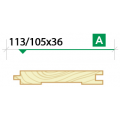 Доска пола крашеная 113/105*36 сорт A
