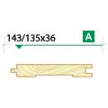 Доска пола крашеная 143/135*36 сорт A