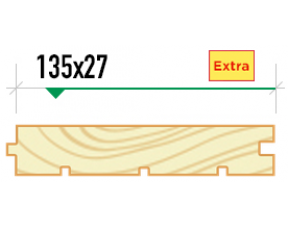 Доска пола крашеная 135/27 сорт Extra
