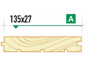 Доска пола крашеная 135/27 сорт A