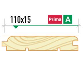 Крашеная вагонка Евро 110*15 сорт Prima