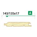 Имитация бруса крашеная 143/135х17 сорт А