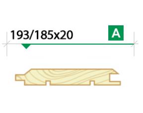 Имитация бруса крашеная 193/185х20 сорт А