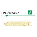 Имитация бруса крашеная 193/185х27 сорт А
