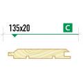 Имитация бруса крашеная 135*20 сорт С