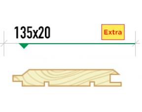 Имитация бруса крашеная 135*20 сорт Extra