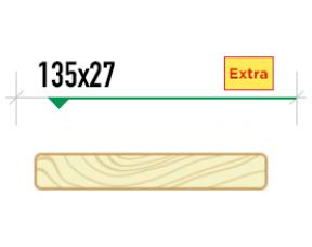 Гладкая палубная доска крашеная 135/27 сорт Extra