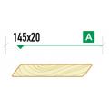 Планкен скошенный крашеный 145х20 сорт А