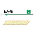 Планкен скошенный крашеный 145х20 сорт С