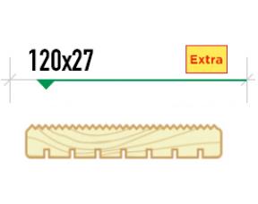 Крашенная террасная доска Вельвет 120/27 сорт Extra