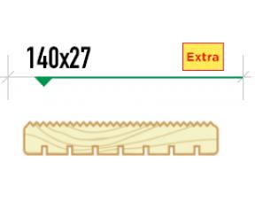 Крашенная террасная доска Вельвет 140/27 сорт Extra