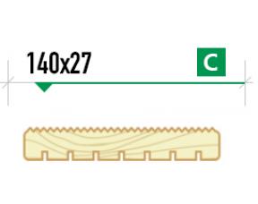Крашенная террасная доска Вельвет 140/27 сорт C