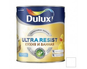 Dulux Ultra Resist / Дулюкс Кухня и ванная (п/мат) ультрастойкая краска для влажных помещений