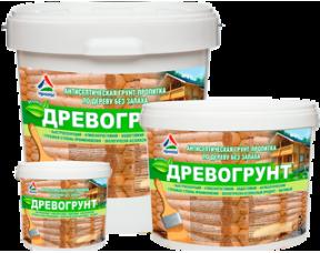 Древогрунт — антисептическая грунт-пропитка без запаха КрасКо