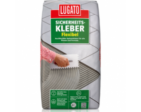 Высокоэластичный клей для плитки Sicherheitskleber Flexibel Lugato