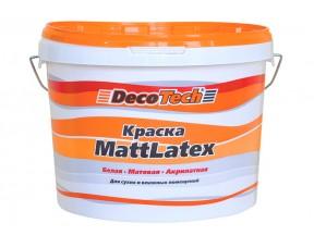 Интерьерная краска Mattlatex Decotech
