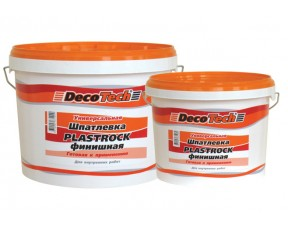 Финишная готовая к применению шпатлевка PLASTROCK DecoTech