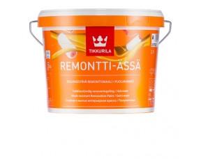 Tikkurila Remontti ASSA / Тиккурила Ремонтти Ясся (база А) краска полуматовая моющаяся для стен и потолков
