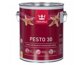 Tikkurila Euro Pesto 30 / Тиккурила Евро Песто 30 (база А) эмаль универсальная полуматовая