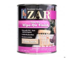 Тунговое масло для внутренних работ ZAR Tung Oil Wipe-On Finish