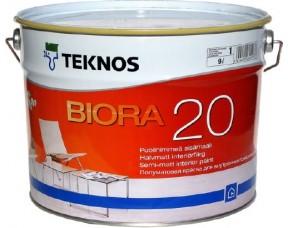 Teknos Biora 20/Текнос Биора 20 Полуматовая краска для стен