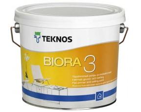 Teknos Biora 3/Текнос Биора 3 Совершенно матовая краска для грунтовки и потолков